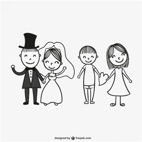 imagenes para dibujar de parejas dibujo de parejas de reci 233 n casados descargar vectores
