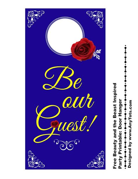 And The Beast Free Printables