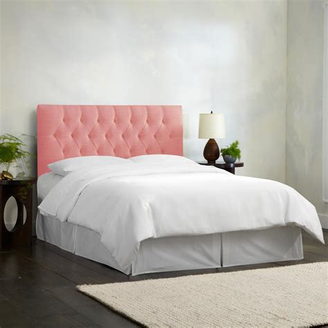 california king tufted headboard linen petal california king diamond tufted headboard