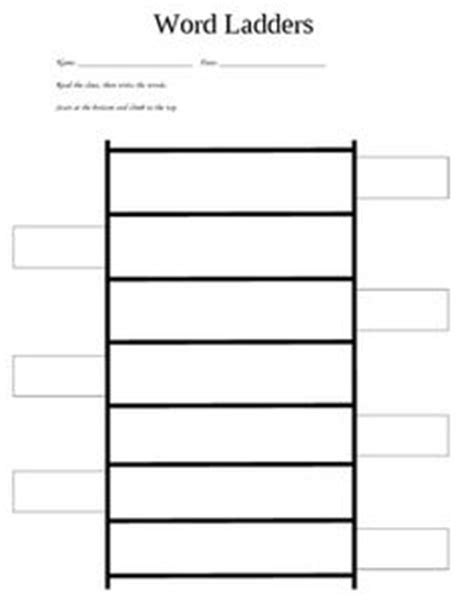 printable word ladder games this is a simple 1 2 sheet word ladder recording page for