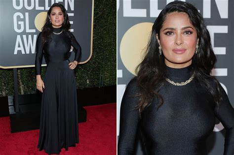 Whats Wrong With Salma Hayeks Ensemble by Golden Globes 2018 Carpet Arrivals See Every Single