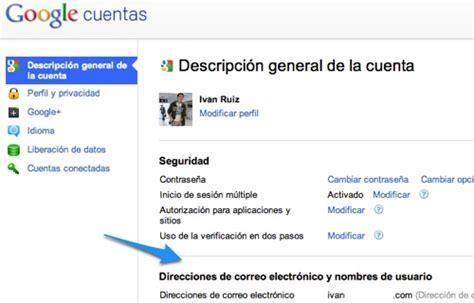 imagenes google cuenta tutorial ligar tus cuentas de correo a tu cuenta de google