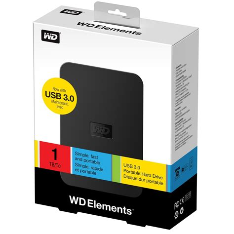 Wd Elements 1tb wd elements portable 1tb extern h 229 rddisk 1 tb svart