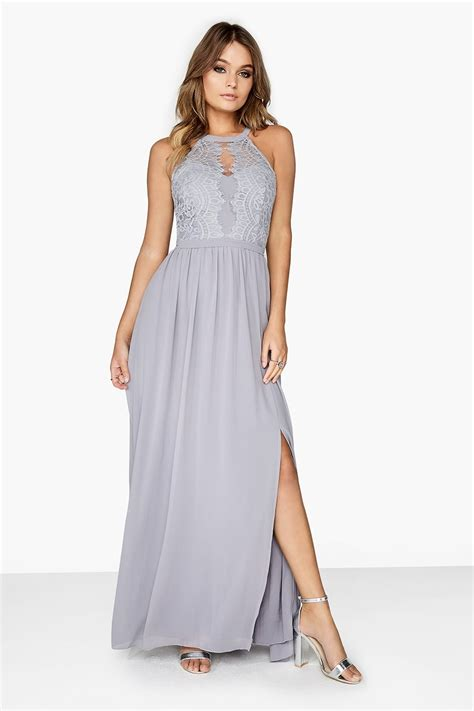 Dress Lace Grey grey lace dress from