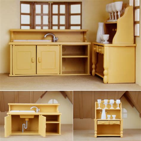 Dolls House Kitchen Living Room Bedroom Miniature Sofa Dolls House Kitchen Furniture