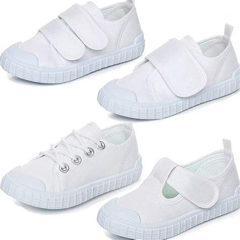 2016 new solid white color children canvas shoes boys