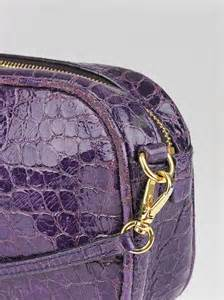 Miu Miu Crocodile Embossed Patent Purse by Miu Miu Purple Croc Embossed Patent Leather Crossbody Bag