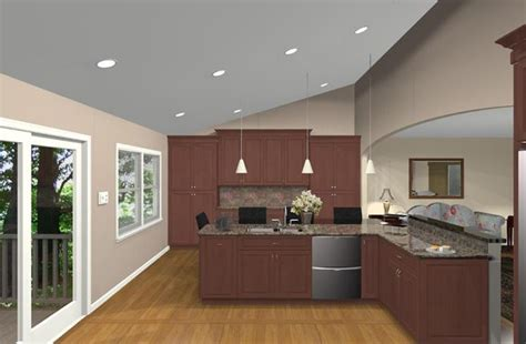 kitchen remodeling design options for a bi level home