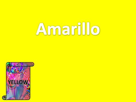 spanish for yellow spanish for yellow espanol vocabulario learn the colors in spanish