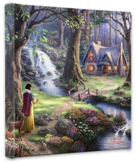 Snow White Discovers The Cottage by Snow White Discovers The Cottage Wrapped Canvas