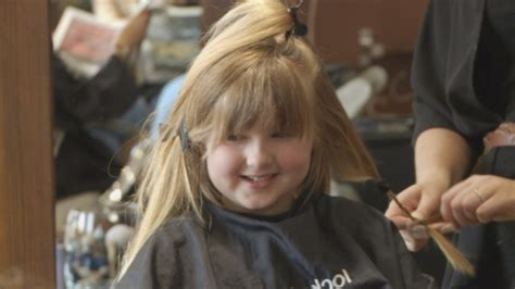 hair cuts cancer patients 5 year old girl cuts hair for cancer charity border