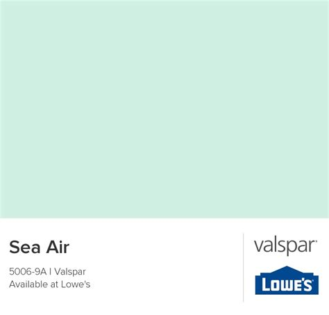 sea air from valspar paint color i like