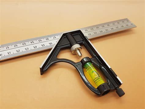 Penggaris Siku Kombinasi Combination Try Square 30 Cm With Waterpass Penggaris Siku Multifungsi Dilengkapi Dengan Waterpass