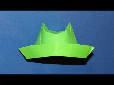 How To Make Cowboy Hats Out Of Paper - how to make an origami hat top hat 04