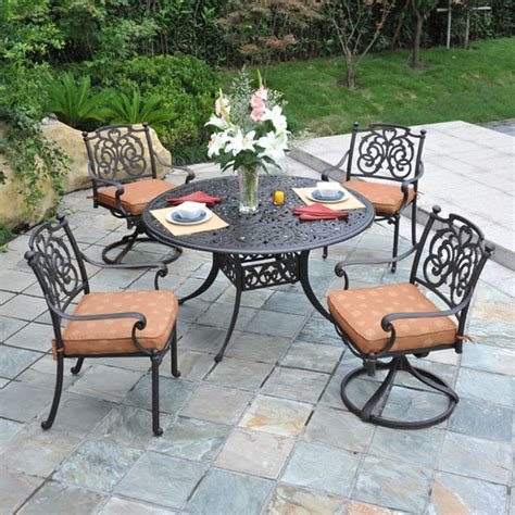 st augustine cast aluminum dining patio furniture by hanamint family leisure