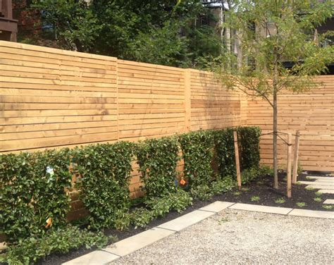 Contemporary Garden Fencing Ideas Modern Slat Fence Contemporary Home Fencing And Gates Dc Metro By Jhla Horn
