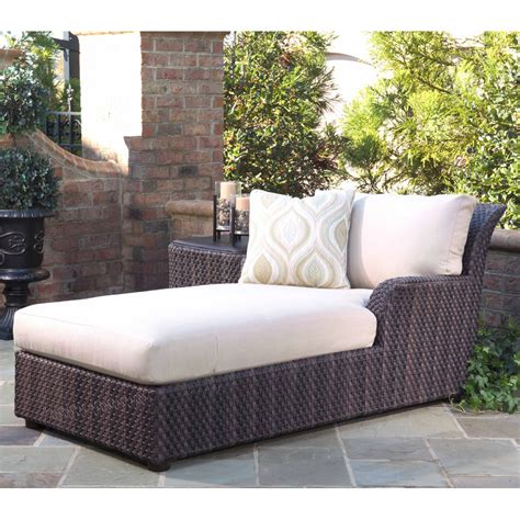 woodard aruba wicker chaise lounge s530041