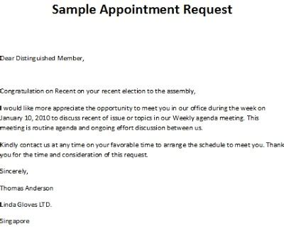 appointment letter samples