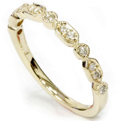 1 6ct wedding stackable ring 14k yellow gold ebay