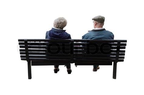 paar auf bank ein altes paar auf einer bank sitzen stockfoto colourbox