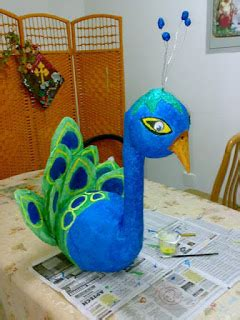 How To Make A Paper Mache Peacock - nishya creations papier mache crafts bead jewelry