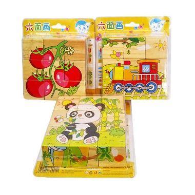 Harga Mainan Puzzle Balok by Jual Momo Balok Kubus Gambar Mainan Blok Dan Puzzle