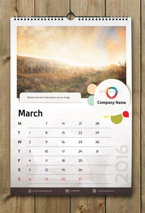 wall calendar layout design 21 best calendar templates for 2016 web graphic design