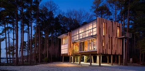 loblolly house loblolly house prefabricated architecture integrated with nature