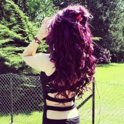 Plum color hair dark brown hairs