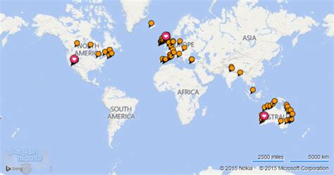 world map cities visited canadian coupons freebies sales deals in canada