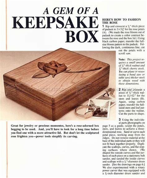 wood  wood keepsake box plans