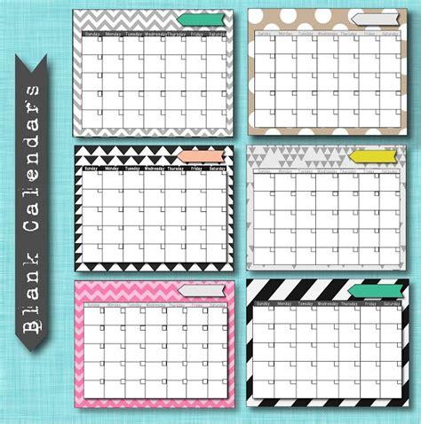 diy calendar template free blank calendar printables diy ideas