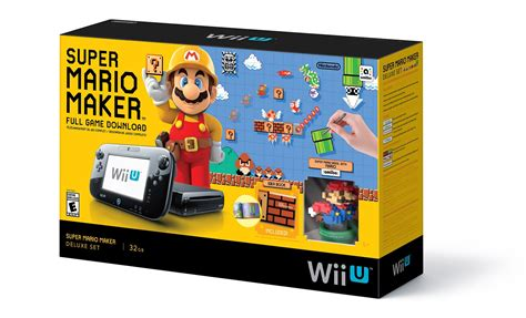 console wii u mario maker wii u console bundle up on walmart my
