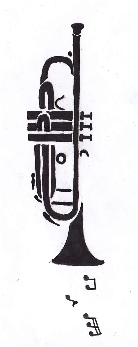 trumpet tattoo designs trumpet on forearm by bobross2