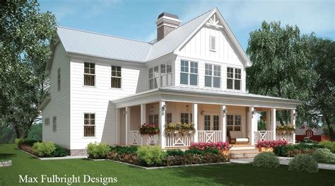 Farmhouse House Plans With Wrap Around Porch by Georgia Farmhouse Plan By Max Fulbright Designs At Home