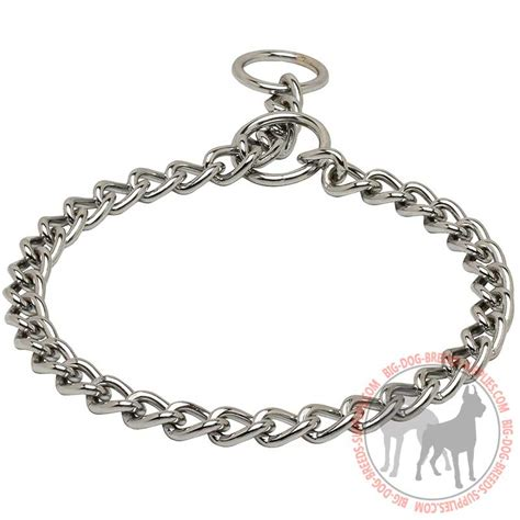 choke collar chrome plated metal choke collar