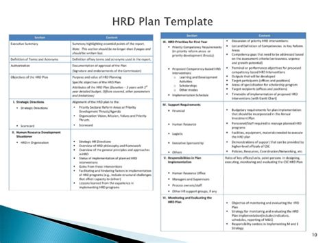 resource development plan template human resource management in local government in the