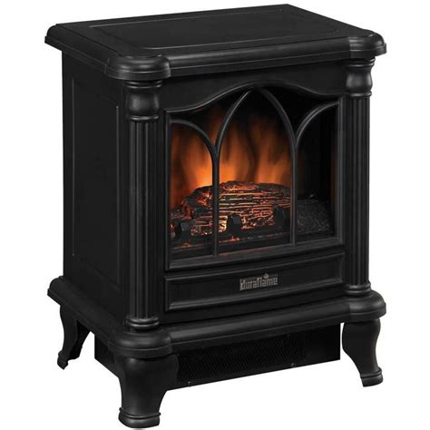 duraflame electric fireplace heater duraflame 16 inch electric stove heater black dfs 450