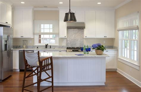 wainscoting kitchen island 10 real exles of beautiful beadboard paneling