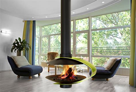 suspended gas fireplace 15 gorgeous freestanding suspended fireplace design ideas