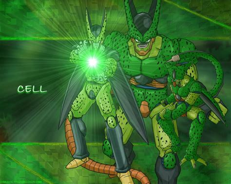 dragon ball cell wallpaper dragon ball z wallpapers perfect cell