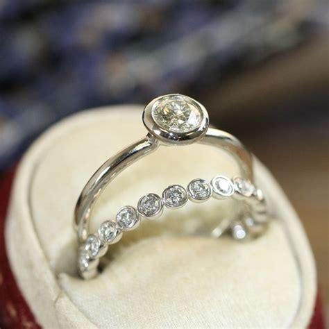 best 25 bezel set engagement rings ideas on
