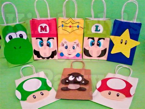 Paper Bag Pinata Bag Goodies Bag Kantong Friends 8 mario bros and friends bags bags favors and bag