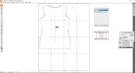 sewing pattern illustrator adobe illustrator cs3 creating a tiled artboard for pdf