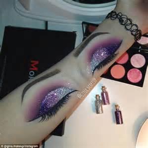 eyeliner tattoo on arm instagram make up artist gina makeup creates eyeshadow art