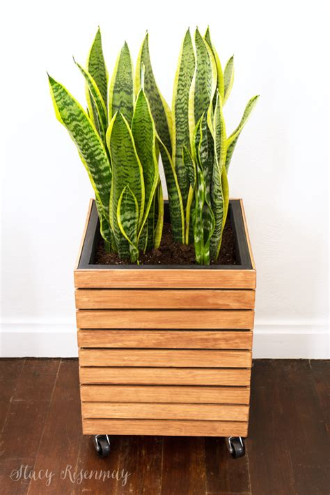modern wood planter diy modern planter box risenmay
