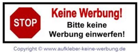Bitte Keine Werbung Aufkleber Wien by Keine Werbung Aufkleber Wien