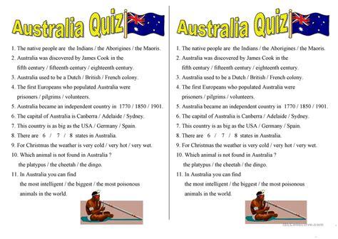 printable quiz about australia australia quiz worksheet free esl printable worksheets