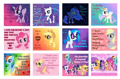 my pony valentines my pony mlp s day cards by