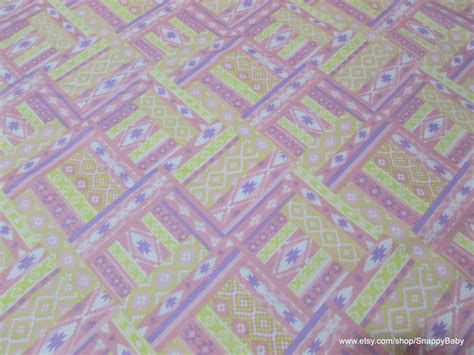 pastel flannel pattern flannel fabric ikat diamond pastel pink yellow by the